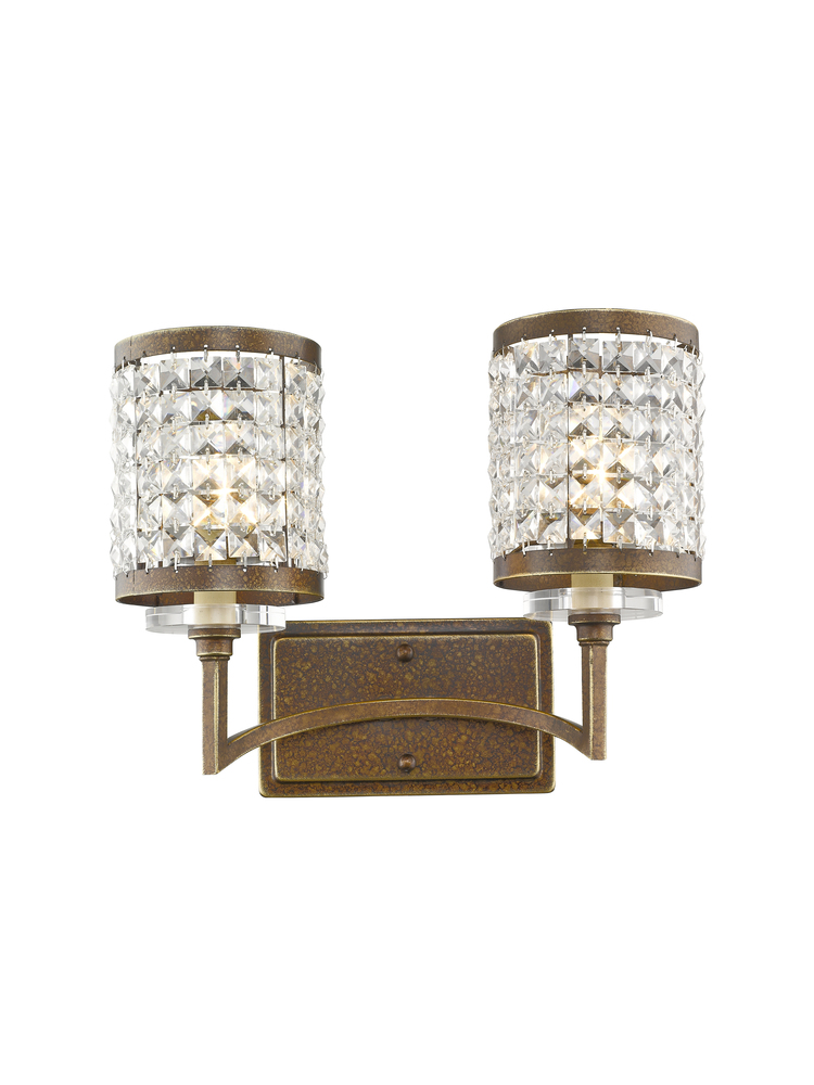 2 Light Palacial Bronze Bath Light 50562 64 Passion Lighting